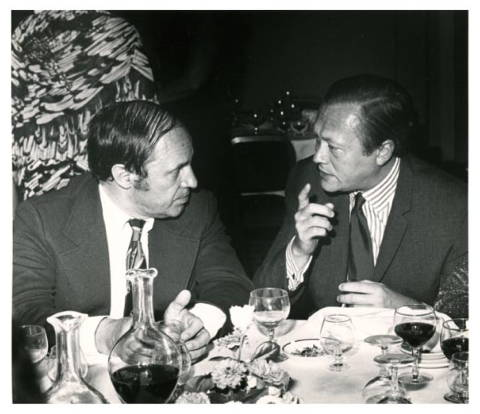 Gerard Schurmann talking to Pierre Boulez